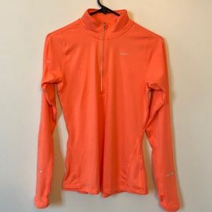 NIKE Dri-fit Zip-Up Long Sleeve Shirt